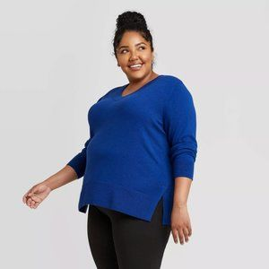 Ava & Viv Wmn's Plus Size V-Neck Pullover Sweater
